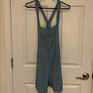 Aerie chambray overalls